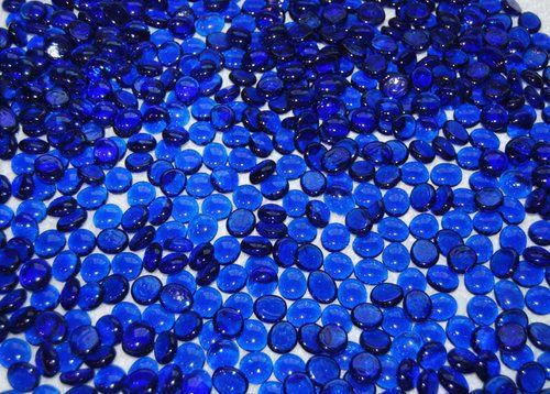 50 Cobalt Blue Glass Gems Mosaic Tiles Tile Floral Vase Fillers | eBay