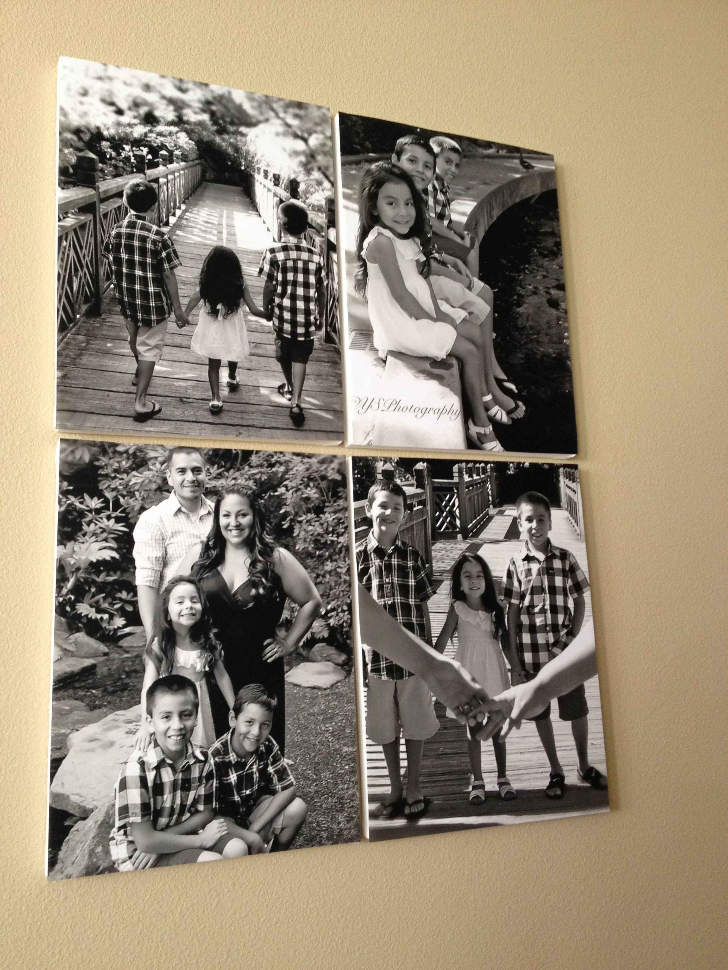 Mod podge photography canvas poster size home made family