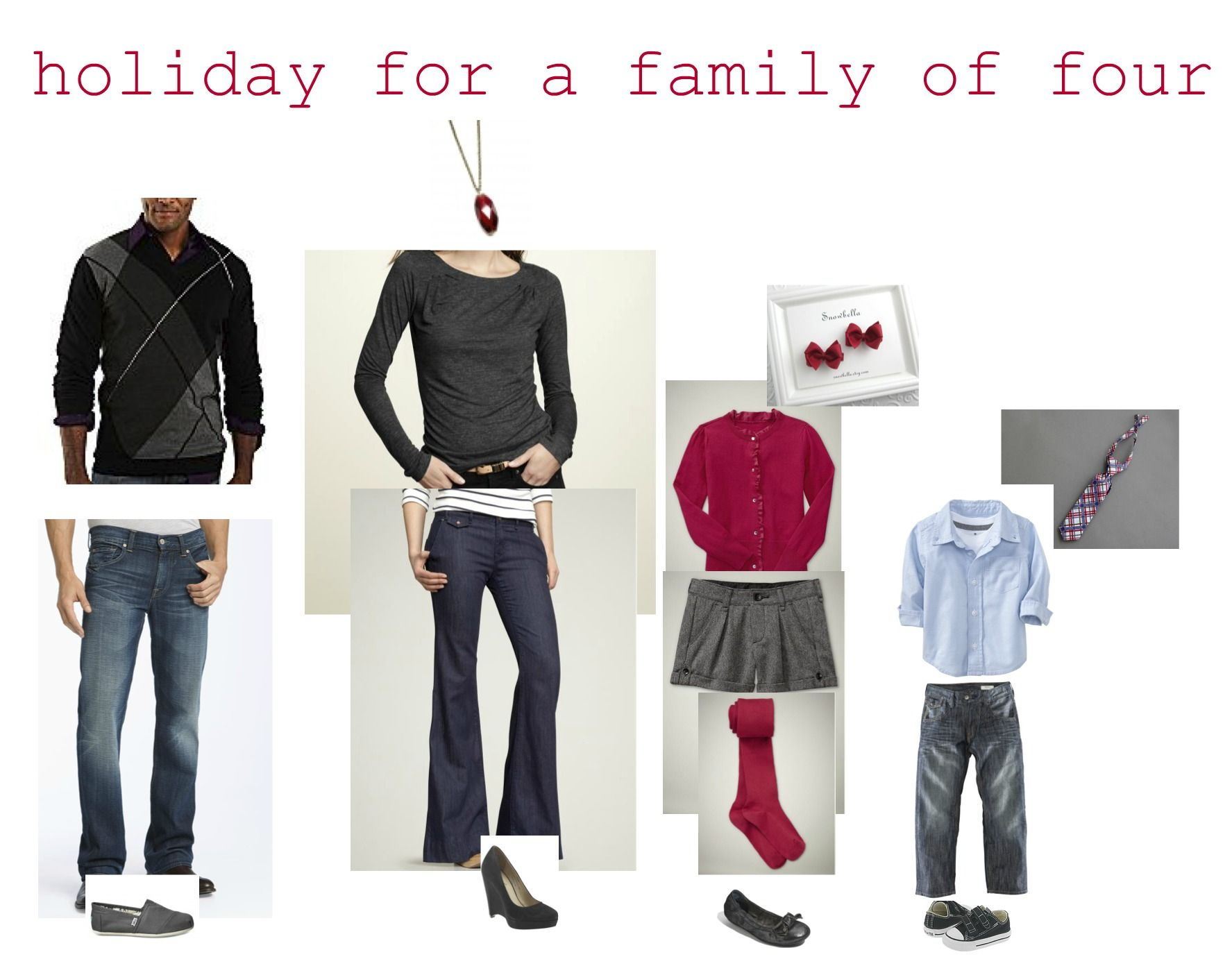 Family Of Four Holiday Outfits