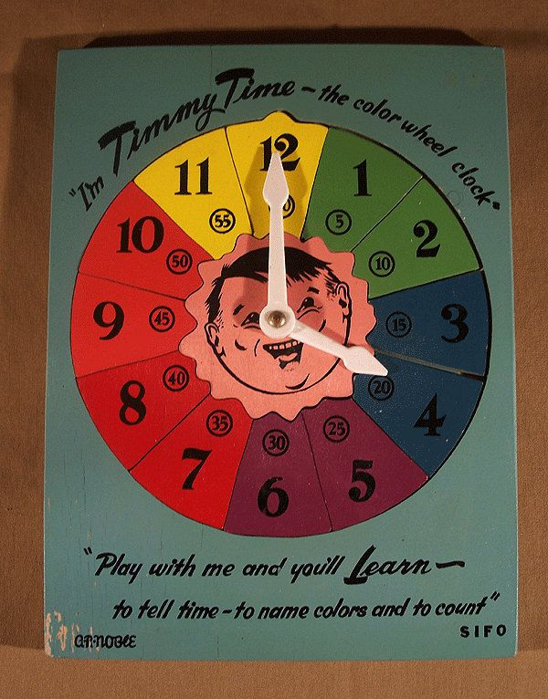 Vintage 1950's TIMMY TIME Color Wheel PUZZLE Clock by Superjunk5000 on Etsy