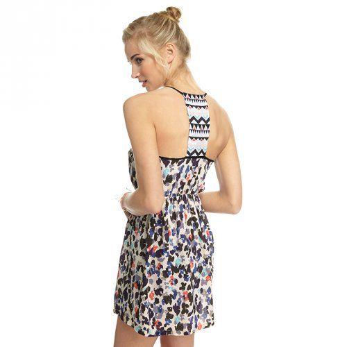 Embroidered Back Short Dress