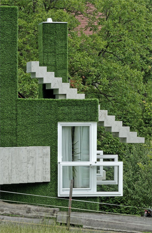 Bijzondere groene woning in Oostenrijk Weichlbauer Ortis Architects