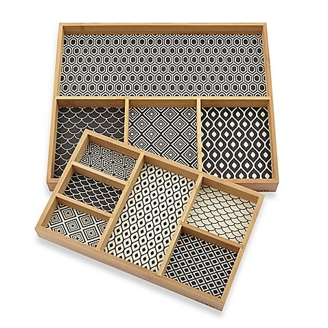 The Printed Bamboo Jewelry Organizer Collection makes an ideal place