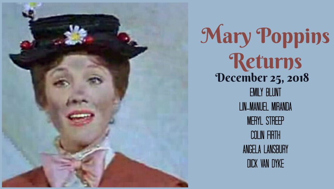 New Mary Poppins Returns Movie To Debut Christmas 2018 (Dick Van ...