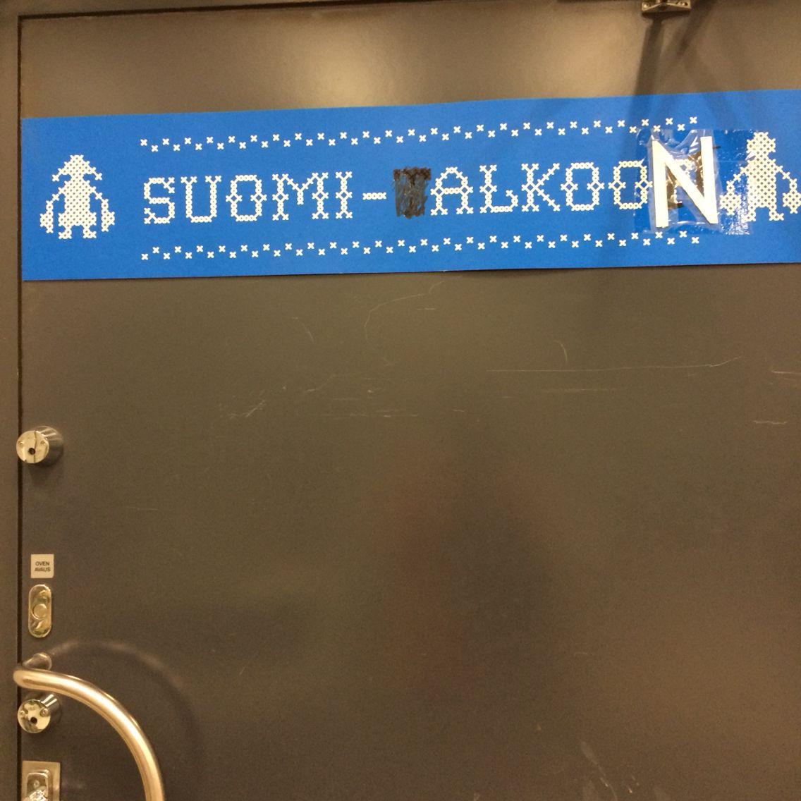 Suomi alkooon... Eiku?