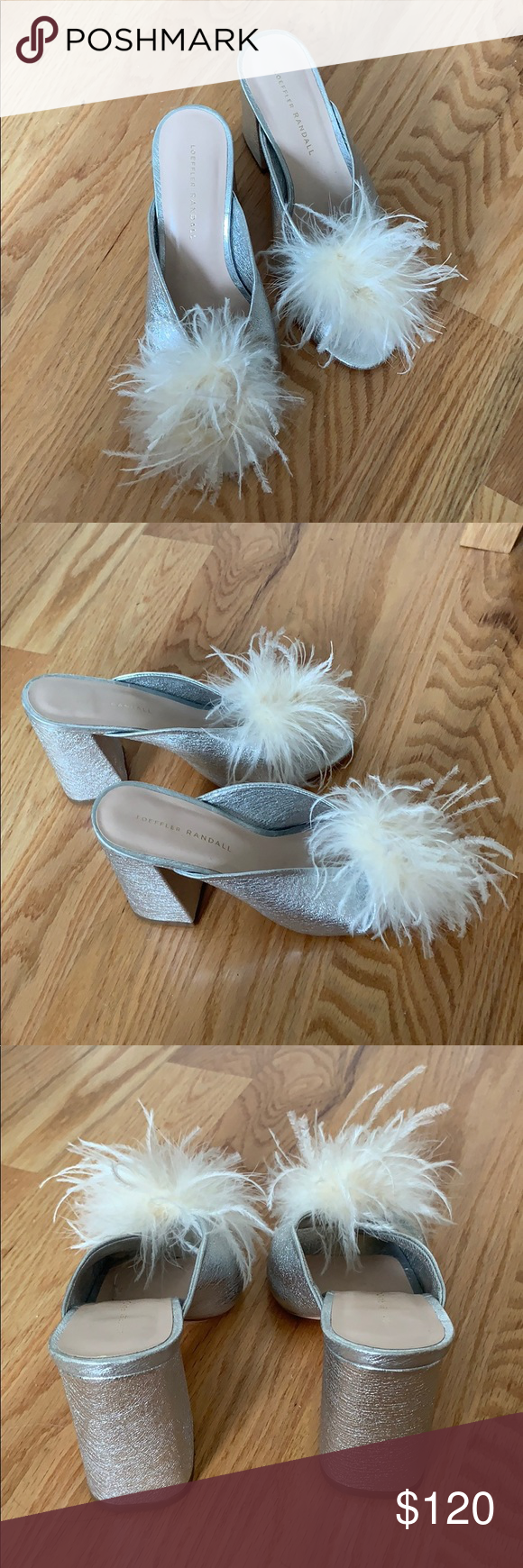 Loeffler Randall Laurel Silver Feather Heel I love these