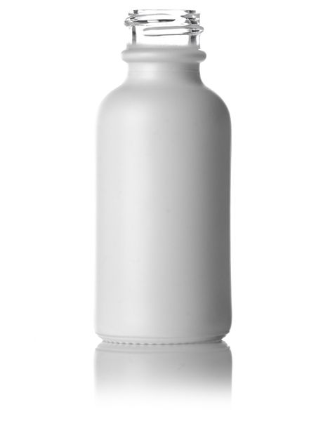 1 Oz White Colored Clear Glass Boston Round Bottle With 20 400 Neck Finish With Images Glass Bottles Wholesale Bottle Glass Containers