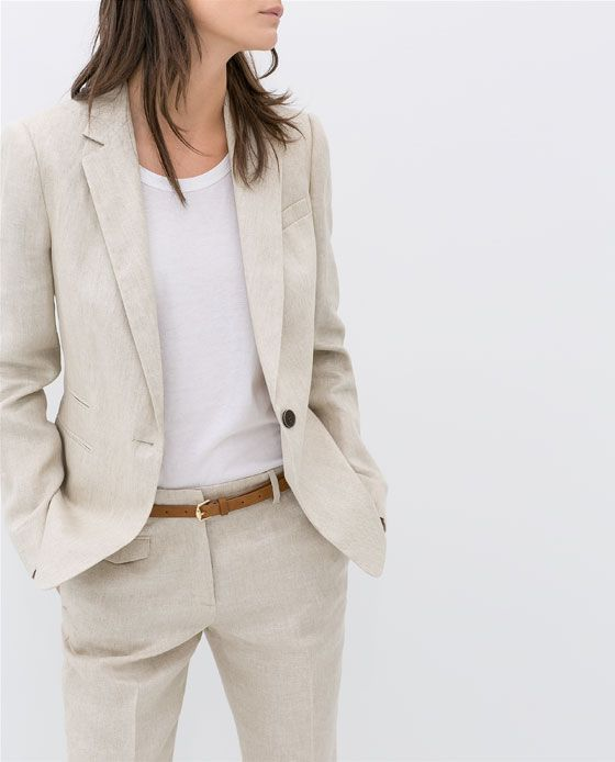 1d3250b9 Image 5 of LINEN BLAZER from Zara | Fashion | Fashion, Linen blazer ...