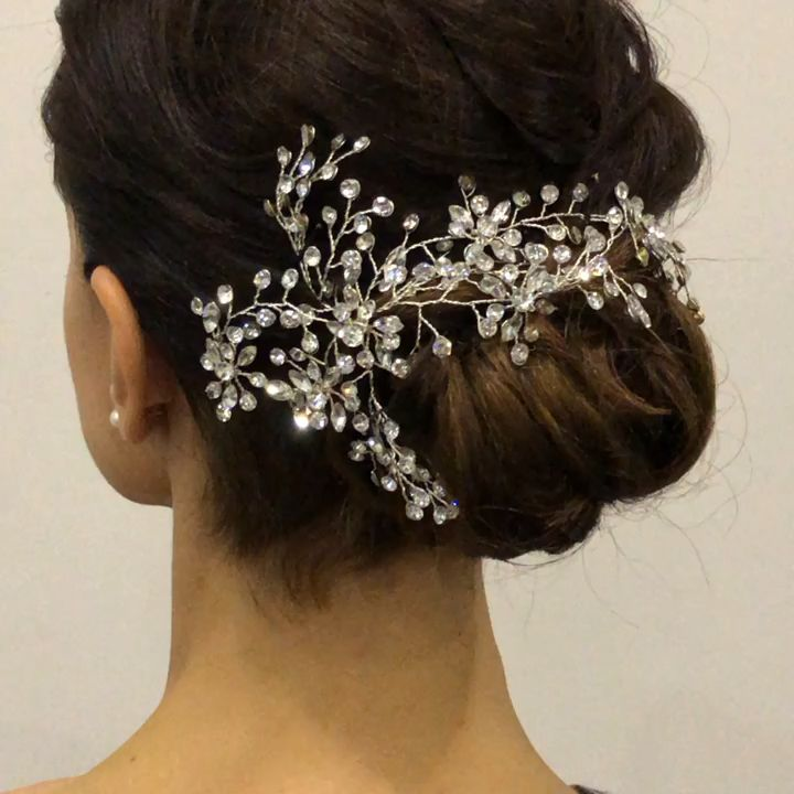 Photo of Sparkling bling hair piece