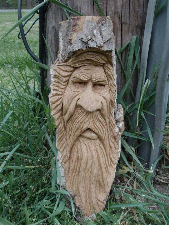 Wood spirit carvings etc pinterest