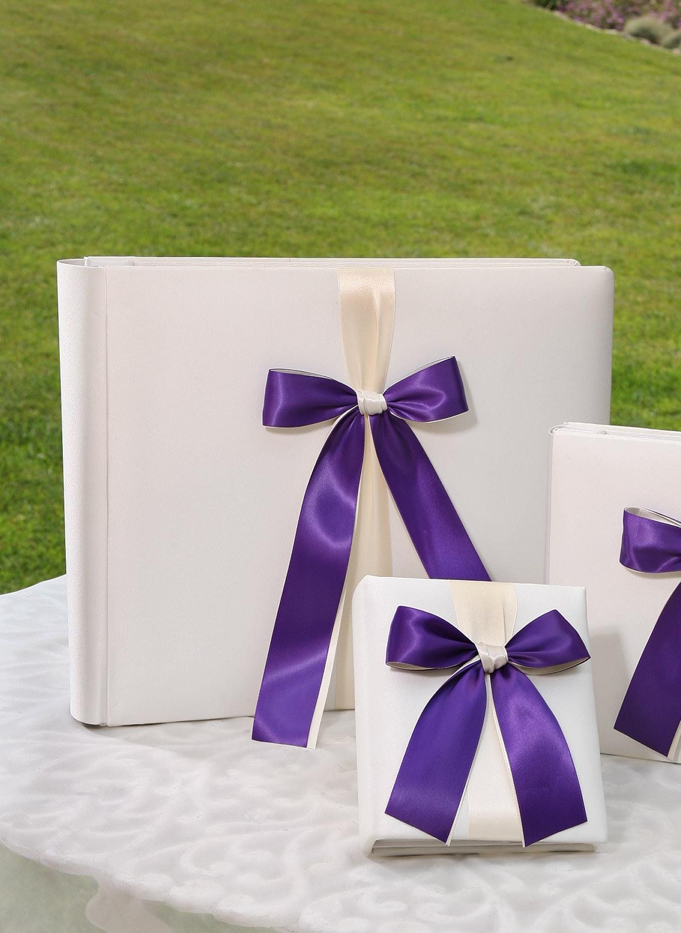 Custom coloured memory book with ribbon in one of 26 colours