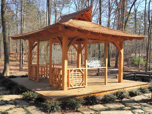 Tea house plans timber frame pinterest teas house for Japanese pergola kits