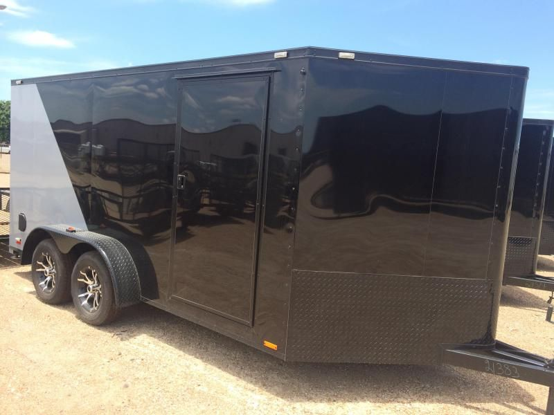 2015 Cargo Mate Black Out Motorcycle Trailer Motorcycle Trailer Motorcycle Trailer Enclosed Trailers Mate Black