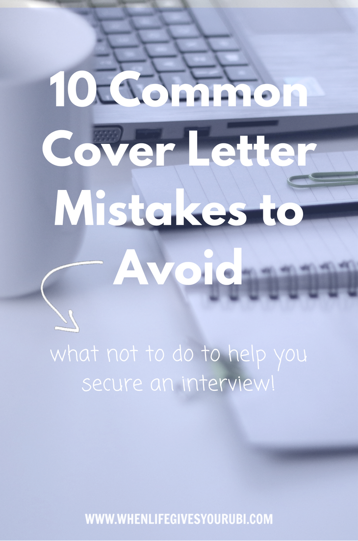 Cover Letter Mistakes 10 Common Cover Letter Mistakes To Avoid