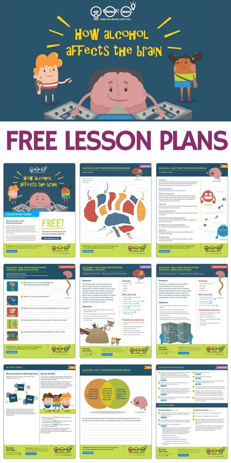 Free lesson plans worksheets activities games and resources to teach kids about alcohols affect on the developing brain If youre a teacher counselor or school admin these...