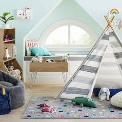 Toddler Mermaids Polyester Sheet Set White/Orange - Pillowfort™