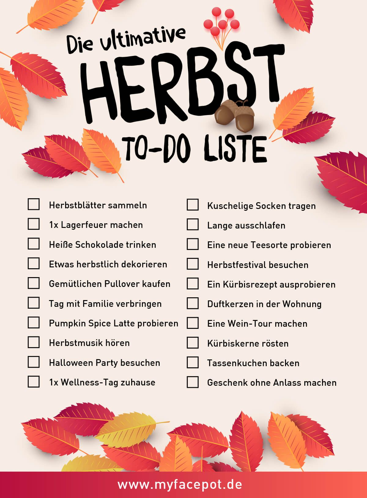 Die ultimative Herbst To-Do Liste