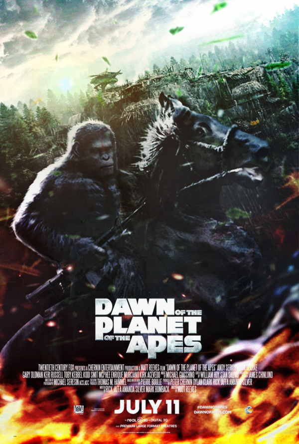 Dawn Of The Planet Of The Apes 2014 Poster By Camw1n Dawn Of The Planet Planet Of The Apes Best Movie Posters
