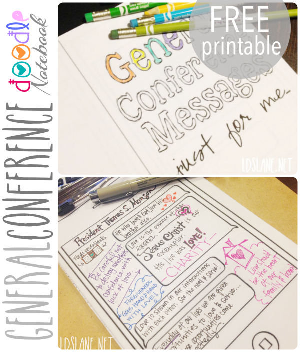 LDS Lane: Free Printable - General Conference Doodle Book | Primary ...