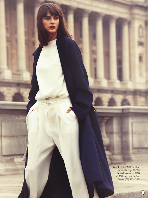 "haute-vanity: ""Elle Australia December 2013Model: Sibui Nazarenko Photographer: Stefania PaparelliStylist: Nicole Bonython-Hines"""