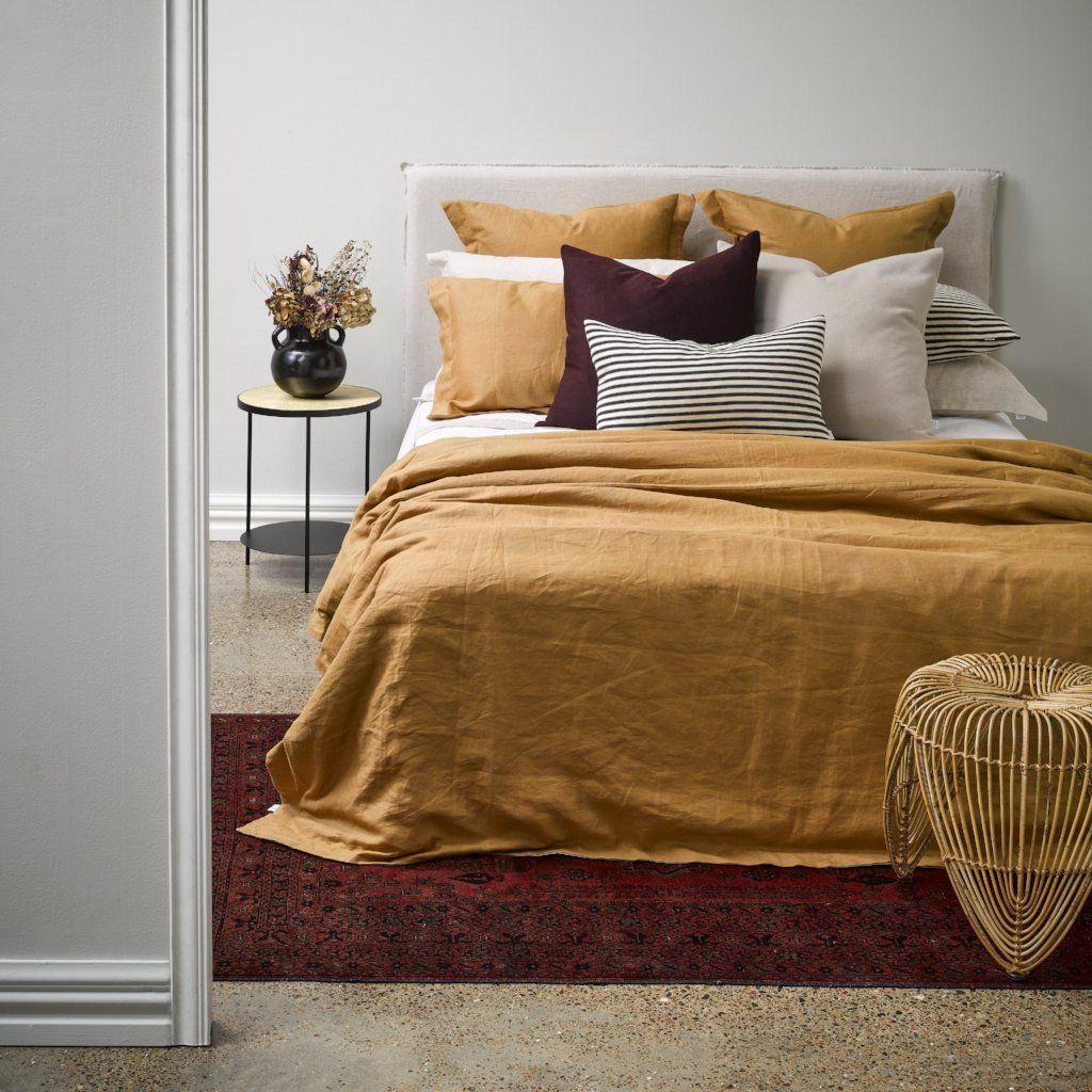 Cinnamon Linen Duvet single Bed linen sets, Linen duvet
