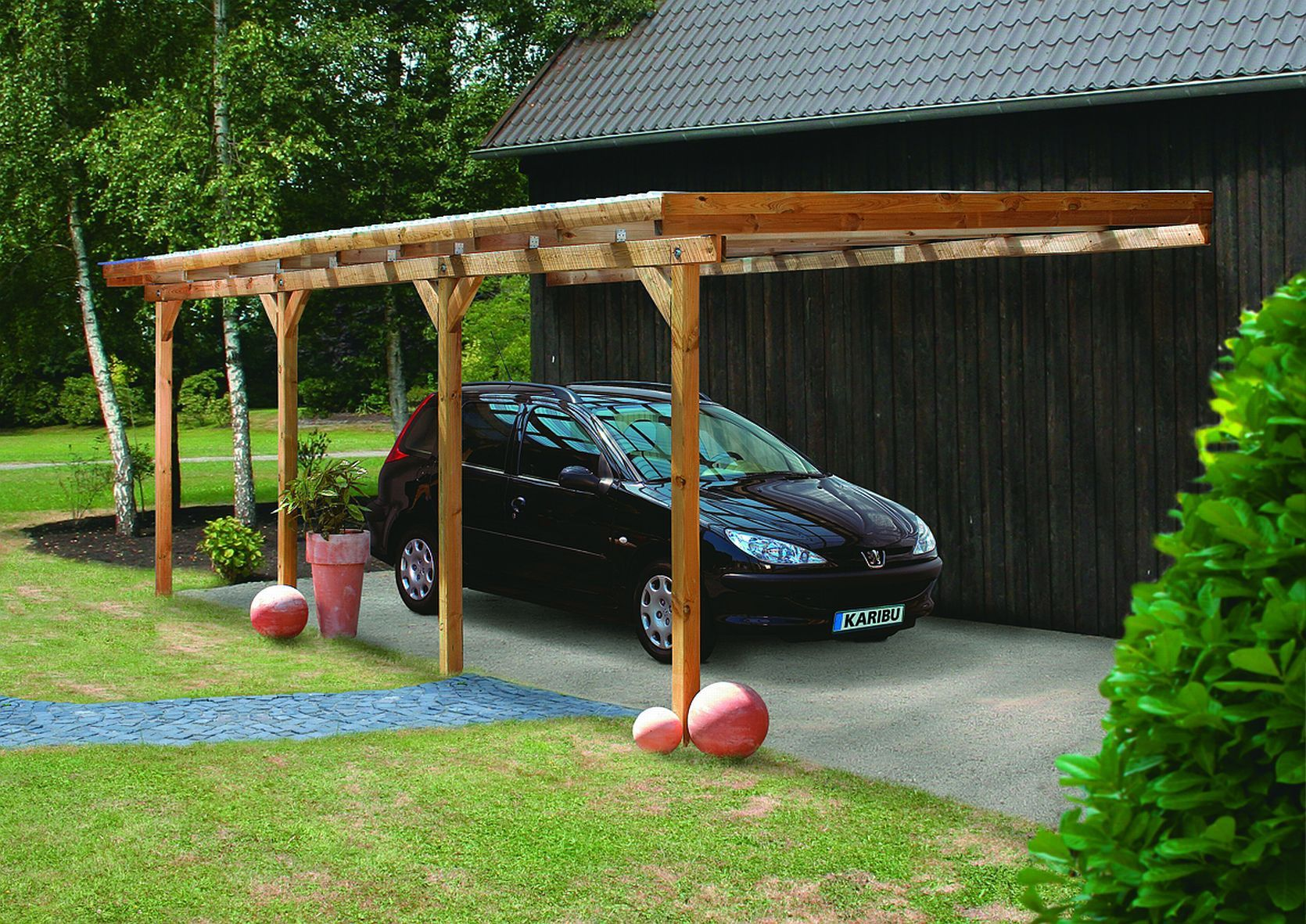 Carport Prix carport bois 22.58 m2 adams 2 l363xp622xh249cm | carports | pinterest