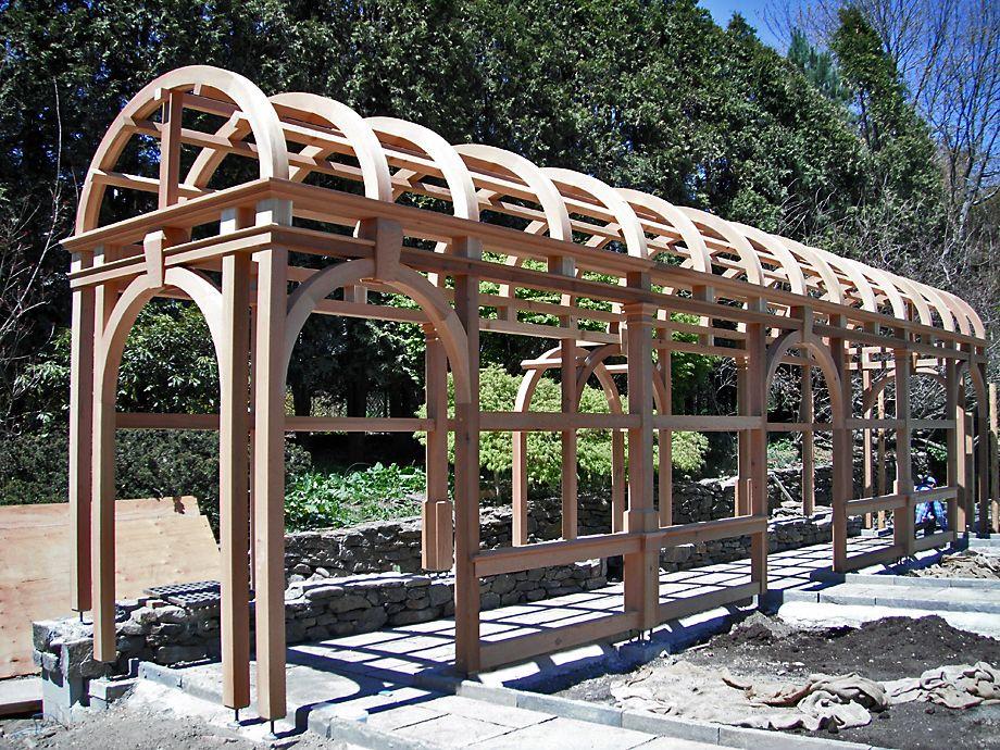 Timber Frame Pergolas Pavilions New Energy Works Timber Frame Building Landscape Structure Timber Frame Pavilion