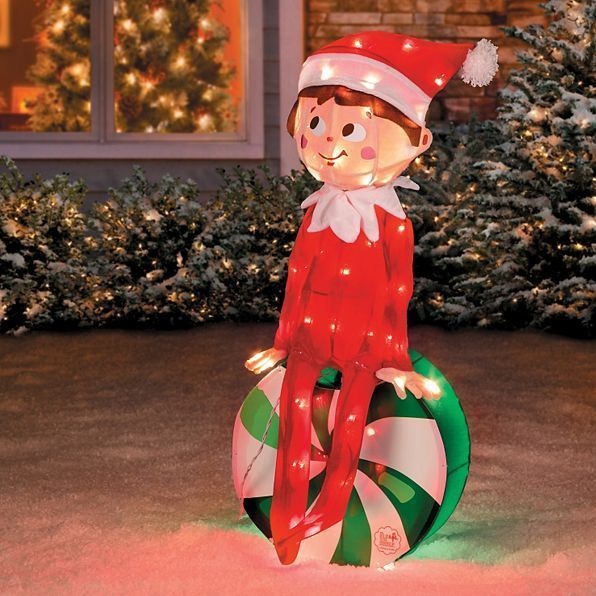 Outdoor Lighted Elf On The Shelf