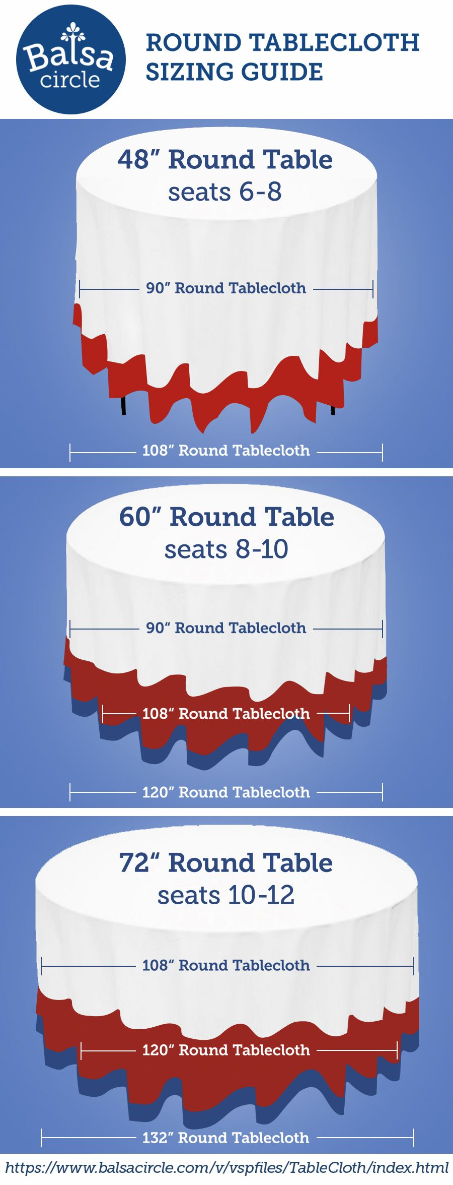 Choose The Right Tablecloth Drop For Your Round Tables
