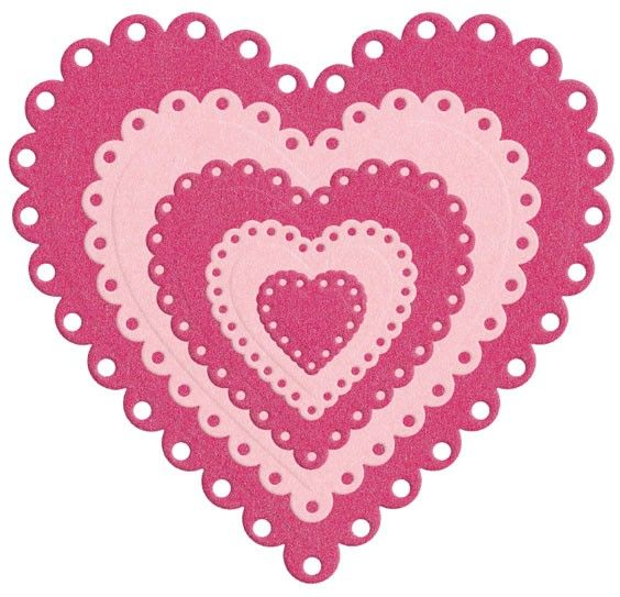 Nesting Eyelet Hearts die by Lifestyle Crafts. Compatible with leading die-cutting machines. $24.99