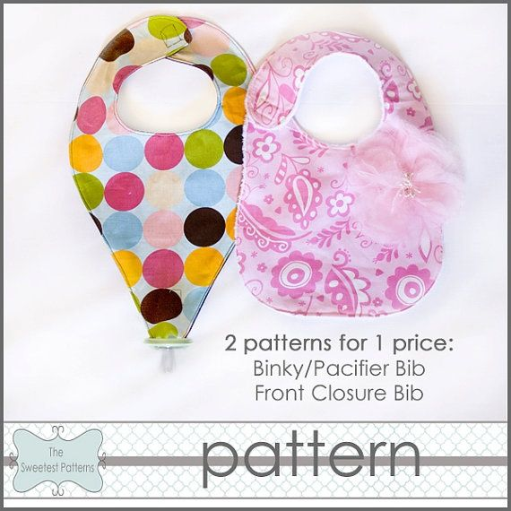 Pacifier Binky Bib Patterns Free | Couture | Baby sewing ...