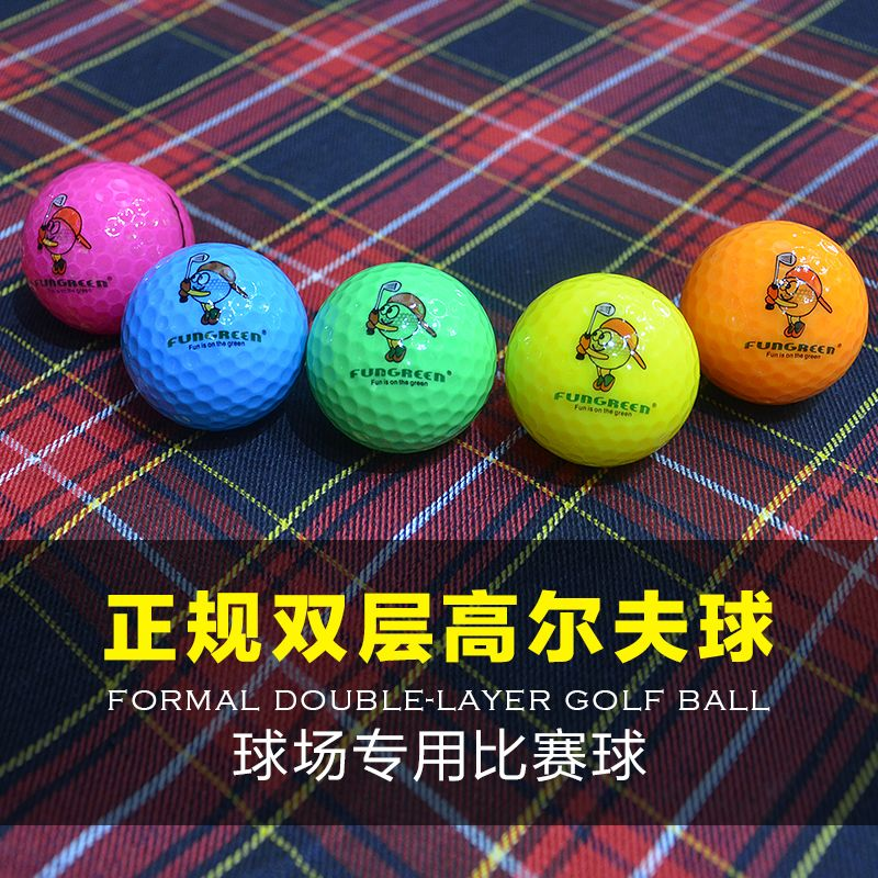 (^^Free Gift^^) Golf Balls 5 pcs/lot Kids Crystal Outdoor Sport Game Training Match Competition Two pieces Rubber Golf Ball Sand Wind Tunnel