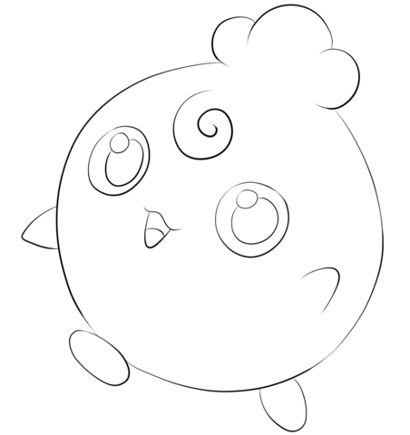 Click To See Printable Version Of Igglybuff Coloring Page Pokemon Coloring Pages Coloring Pages Free Coloring Pages
