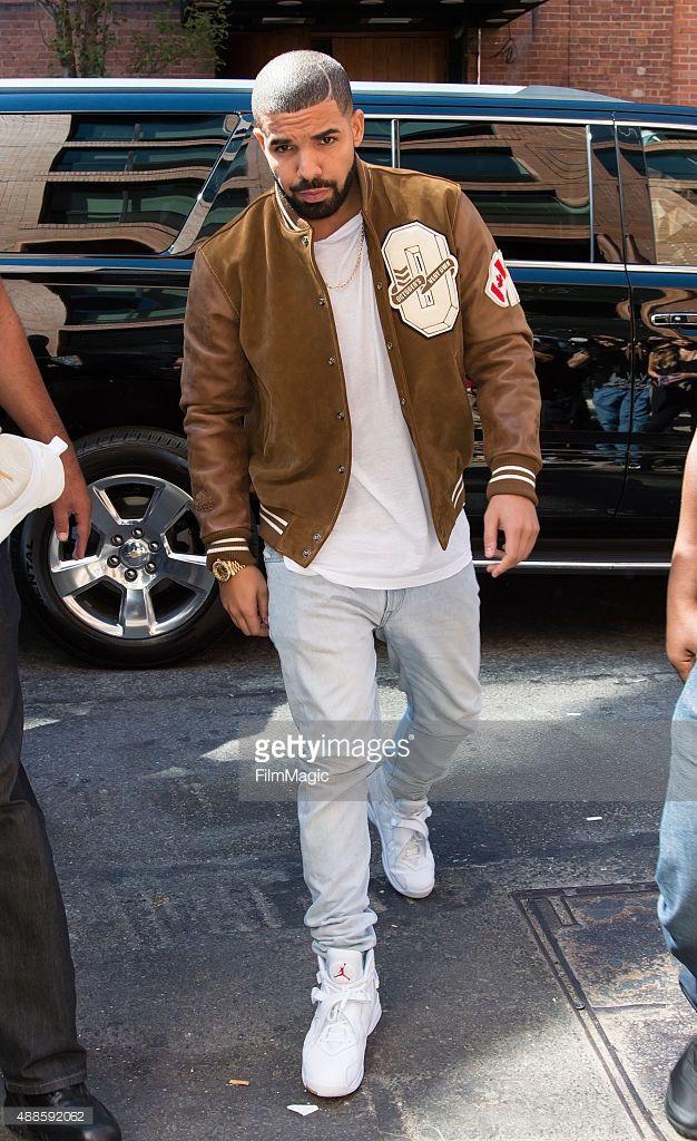 Drake is seen arriving at Kanye West Yeezy Season 2 during Spring 2016 New  York Fashion