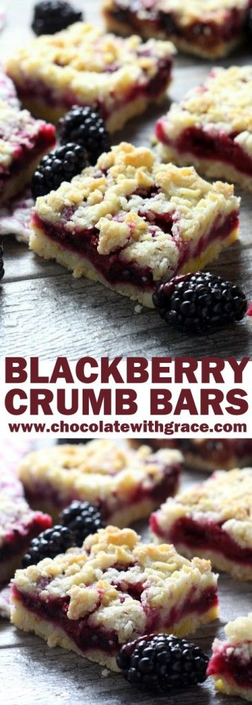 Blackberry Crumb Bars - Chocolate with Grace
