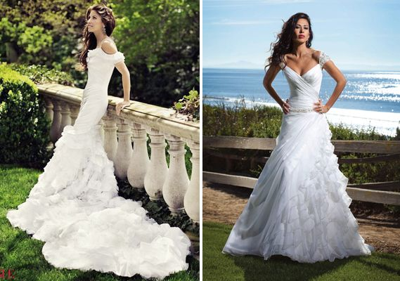 So Dramatic Wedding Dresses Celebrity Wedding Dresses Summer