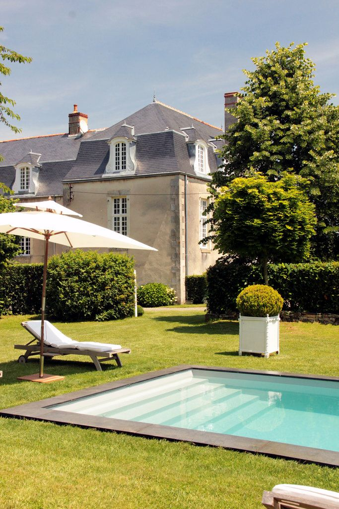 A Restored Chateau In Brittany · Backyard PoolsPool HousesDream ...