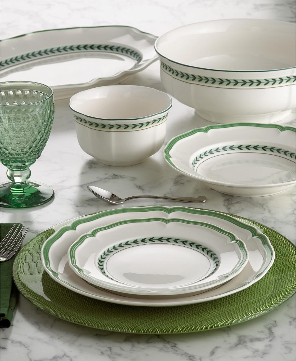 Villeroy Boch French Garden Green Line Dinnerware Collection Reviews Dinnerware Dining Macy S In 2020 Dinnerware Tableware Dinnerware Green Dinnerware