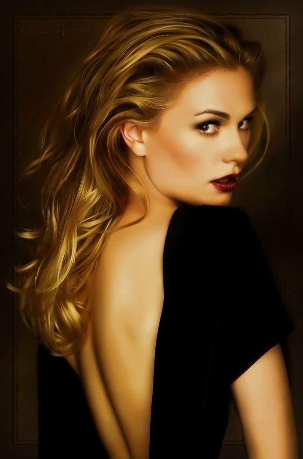 Anna Paquin by Max Tegman - I've always through she was so gorgeous.