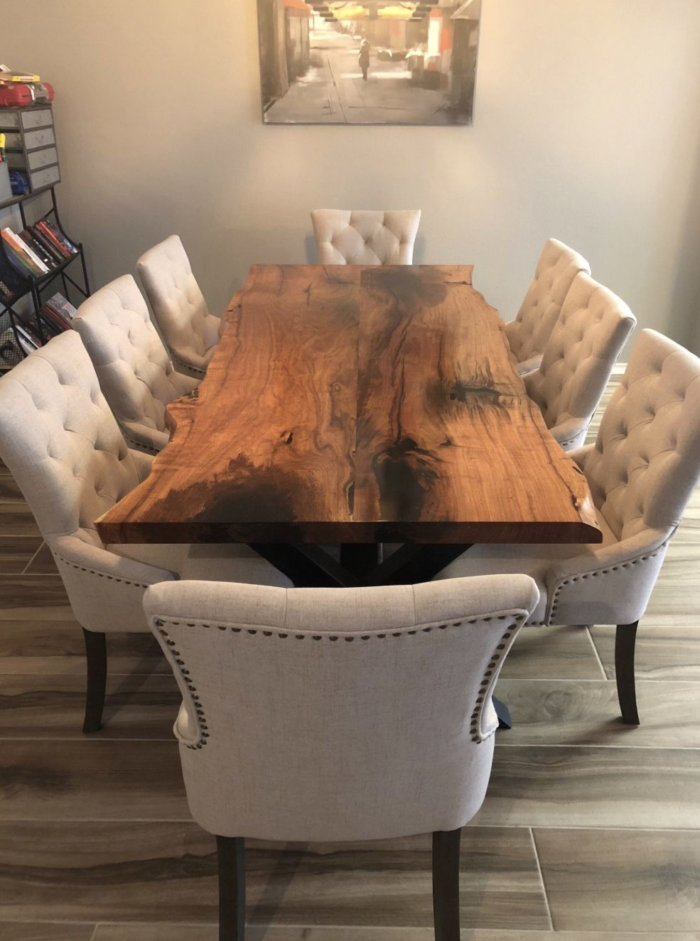 Live Edge Dining Table Live Edge Table Dining Rooms Wood Dining