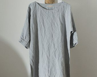 327---Linen Drape Dress, One Size Fits Many.