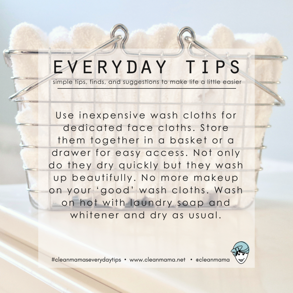 Everyday Tips Facial Wash Cloths