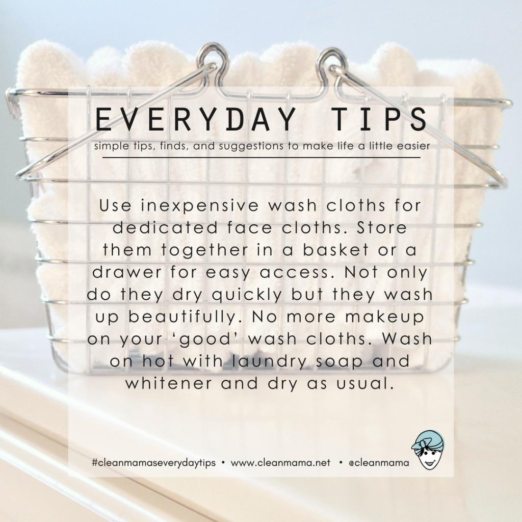 Everyday Tips Facial Wash Cloths