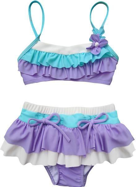 5dddcf88d2 Isobella & Chloe Lalic/Aqua Two Piece Ruffle Swimsuit   Products ...