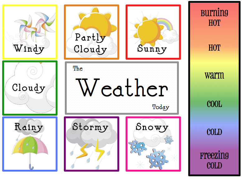 child's weather chart | Free Weather Calendar | kids | Pinterest ...