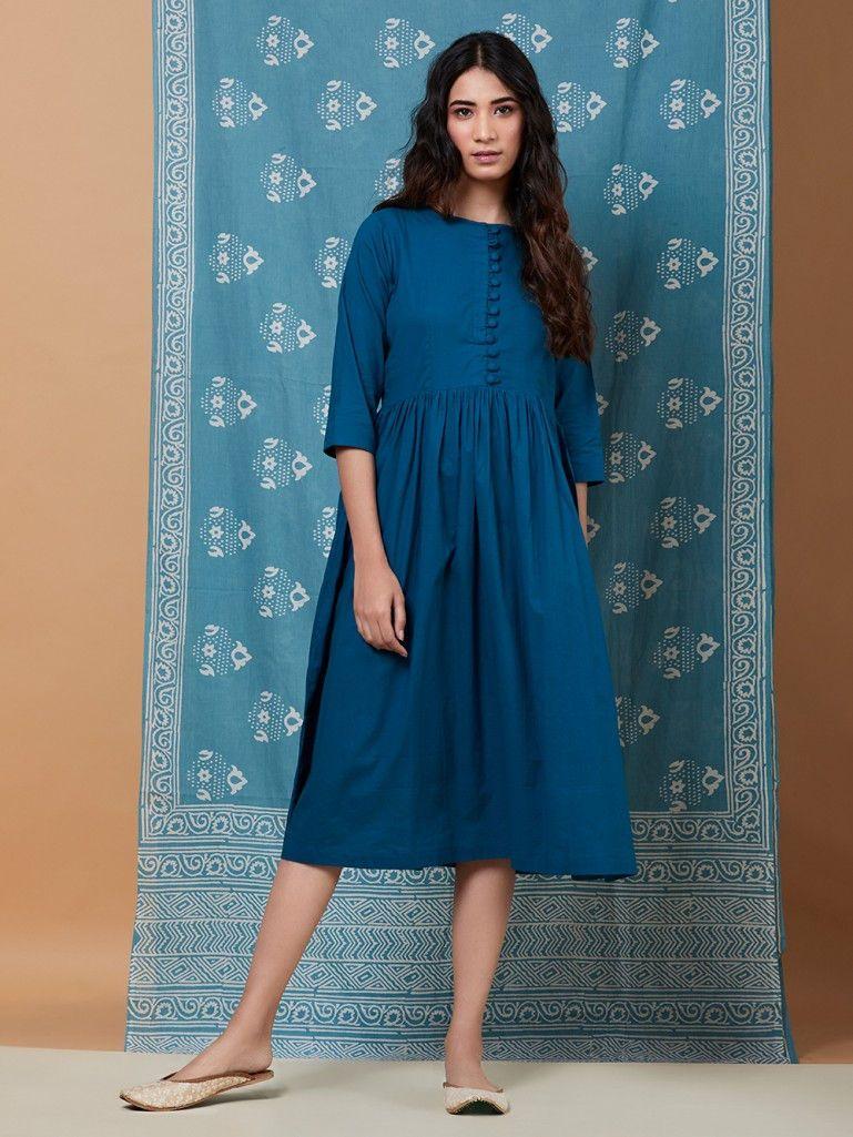 0268a7701e1c Blue Cotton Dress Cotton Dresses Online
