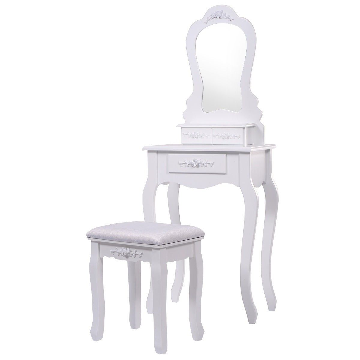 Pleasant Compact Vanity Makeup Dressing Table Stool Set In 2019 Squirreltailoven Fun Painted Chair Ideas Images Squirreltailovenorg