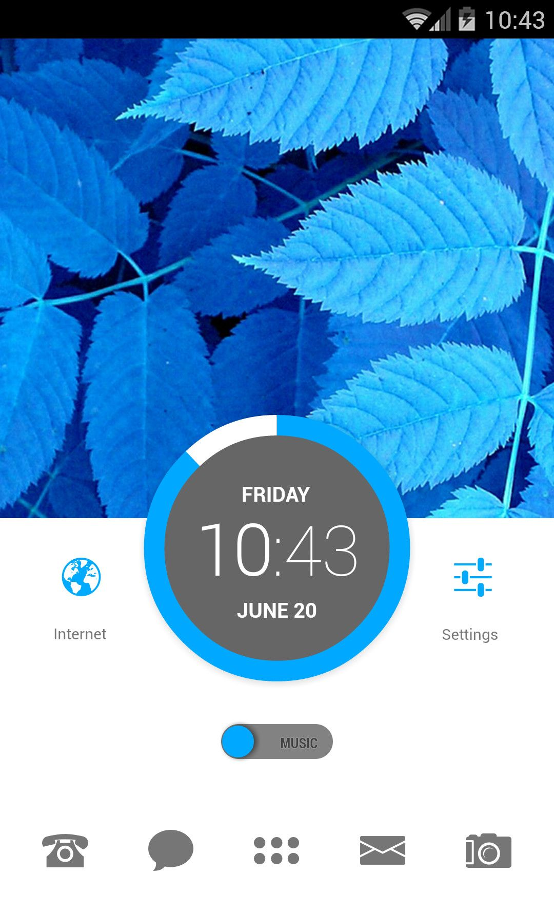 Frosty Leaves for Themer Android Homescreen by Themer