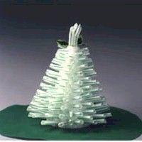 Drinking Straw Christmas Tree Christmas Tree Crafts Christmas Craft Projects Straw Crafts