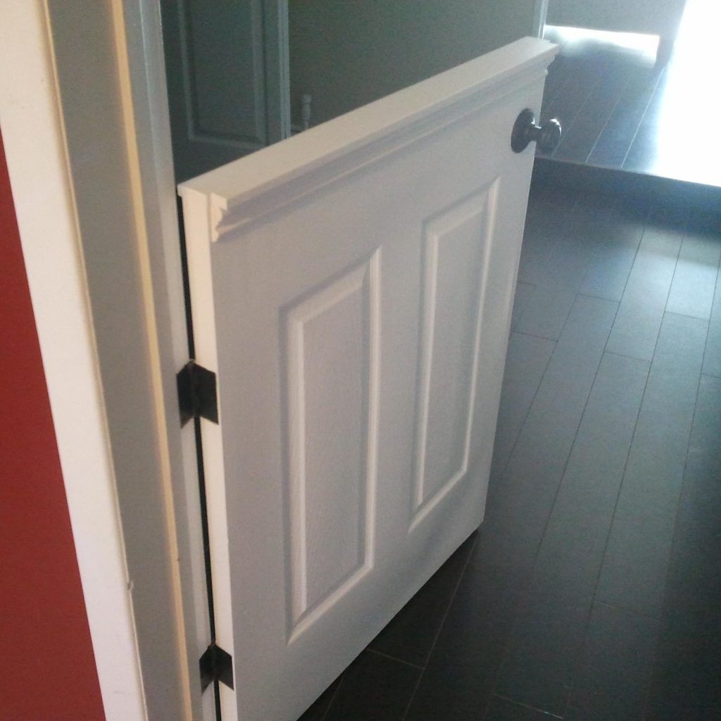 Lighting Basement Washroom Stairs: Half Height Doors Interior